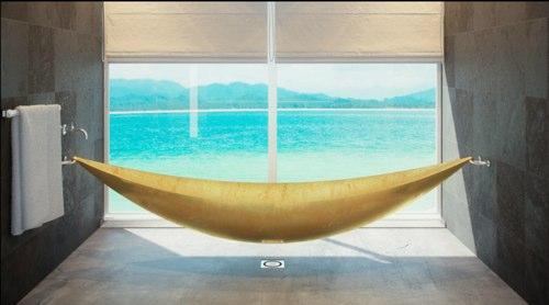La baignoire suspendue Vessel