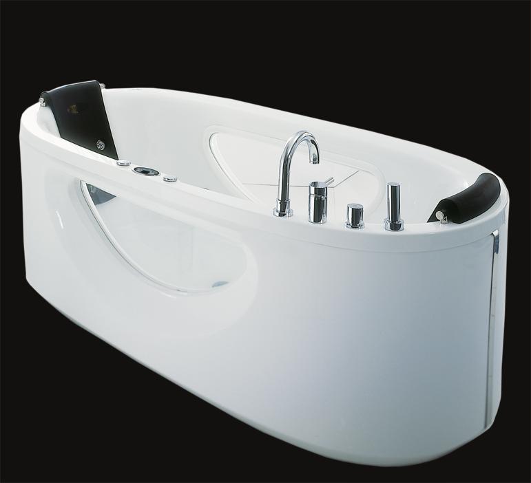 Baignoire ilot balneo 02 tout sur la baignoire for Baignoire design pas cher