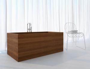 Baignoire rectangle en bois