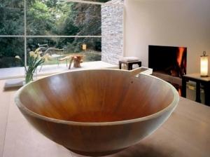 Baignoire ronde en bois