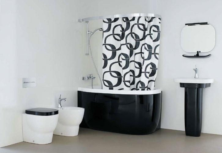 Petite salle de bain moderne tout sur la baignoire for Petite salle bain moderne