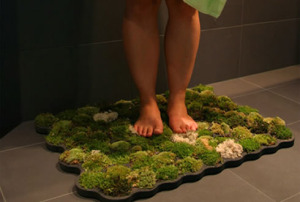 Tapis de bain en mousse végétale